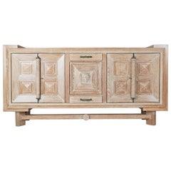 Cerused Sideboard, France, circa 1940s