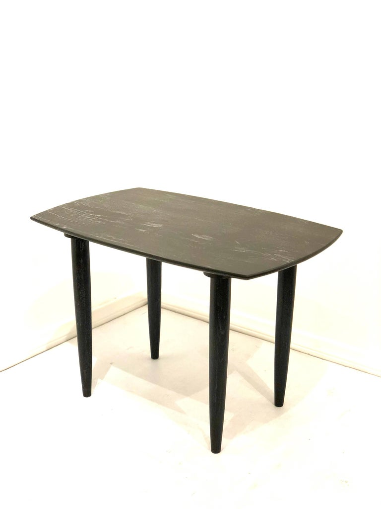 American Cerused Solid Oak Midcentury California Design End Table by Ace of California For Sale