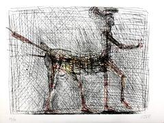 César - Centaur - Picasso's Homage - Original Signed Etching