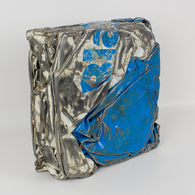 Cesar Baldaccini Style Abstract Metal Sculpture Compression For Sale 1