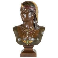 Cesar Ceribelli Patinated Bronze Bust of Cleopatra