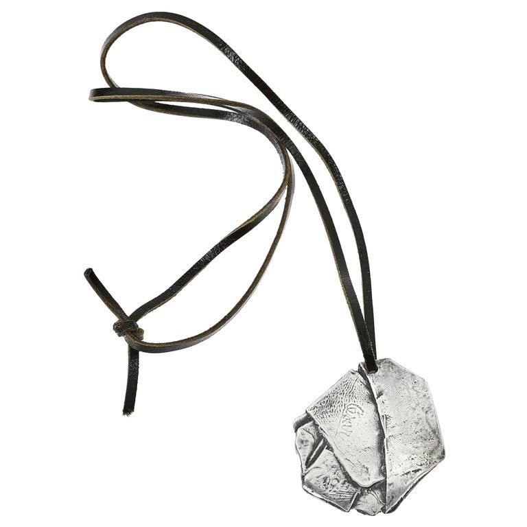 Cesar Compression Pendant, Sterling Silver For Sale