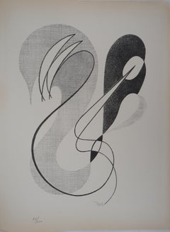 Abstract Composition - Original lithograph, Handsigned and Numbered / 100, 1946