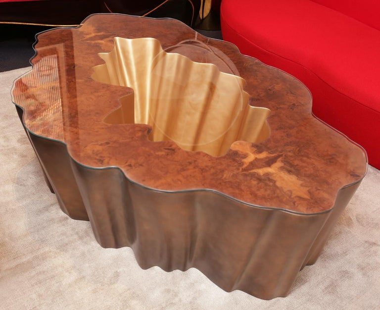 Portuguese Cesar Gold Coffee Table For Sale