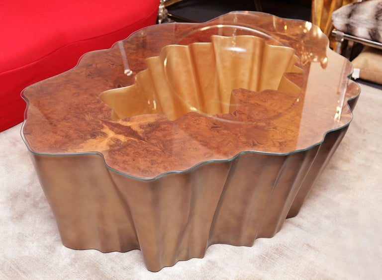 Carved Cesar Gold Coffee Table For Sale