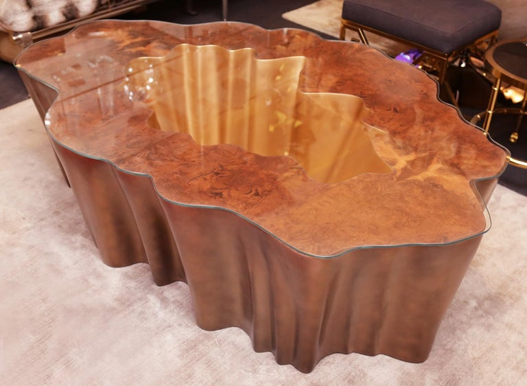 Cesar Gold Coffee Table In New Condition For Sale In Paris, FR
