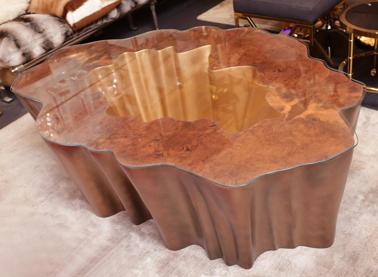 Contemporary Cesar Gold Coffee Table For Sale