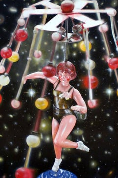 Celestial Dancer -- Original Oil Painting by Santander The Great of Photorealism