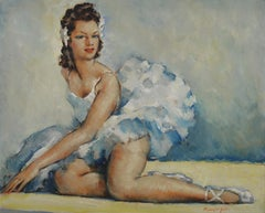 Cesar Vilol, Ballerina Dancer, Oil on Hardboard Panel