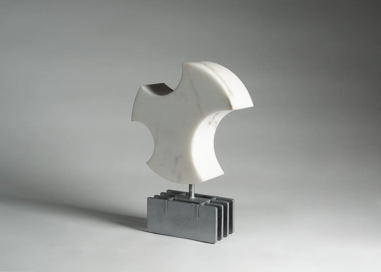 American Cesare Arduini, Abstract Marble and Steel Sculpture, United States, 2019 For Sale