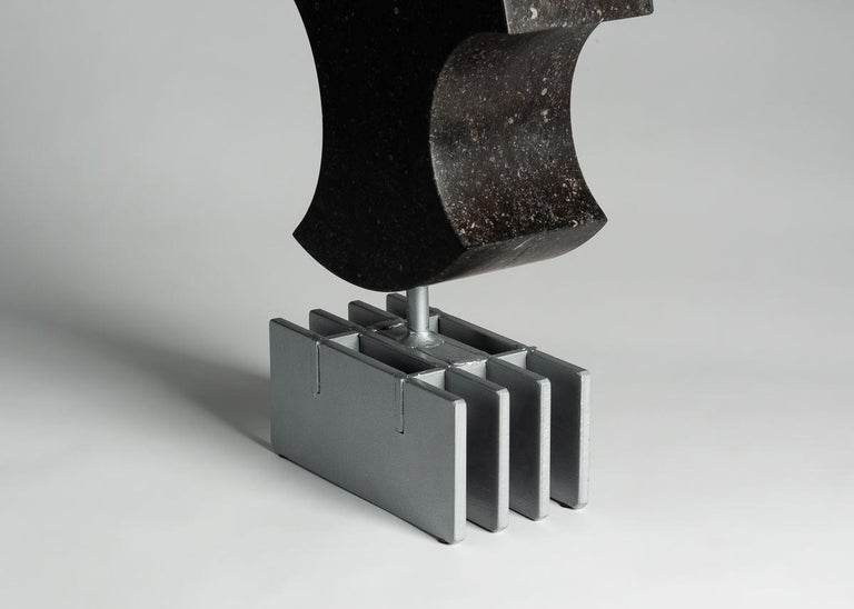 American Cesare Arduini, Abstract Stone and Steel Sculpture, United States, 2019 For Sale