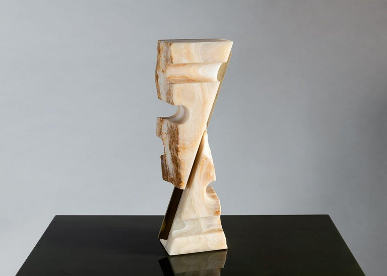 American Cesare Arduini, Onyx and Brass Sculpture, United States, 2019 For Sale