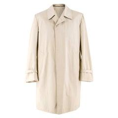 Cesare Attolini Beige Cotton Trench Coat IT 50