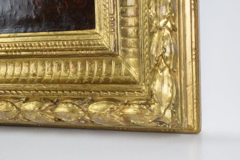 Canvas Cesare Ciani Portrait of King Edward VII, oil on canvas with Gilded Frame For Sale