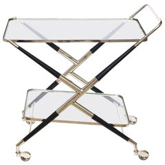 Cesare Lacca Bar Cart or Trolley Italian Mid-Century Modern