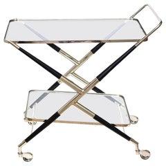 Cesare Lacca Bar Cart or Trolley Italian Mid-Century Modern