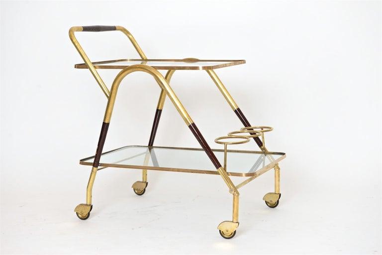 Cesare Lacca Italian Bar Trolley, circa 1950 In Good Condition For Sale In London, GB