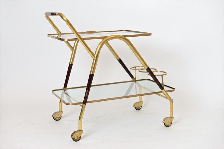 Mid-20th Century Cesare Lacca Italian Bar Trolley, circa 1950 For Sale