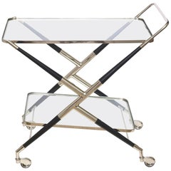 Cesare Lacca Midcentury Modern Bar Cart or Trolley Italian