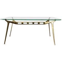 Cesare Lacca Sculpted Brass Coffee Table