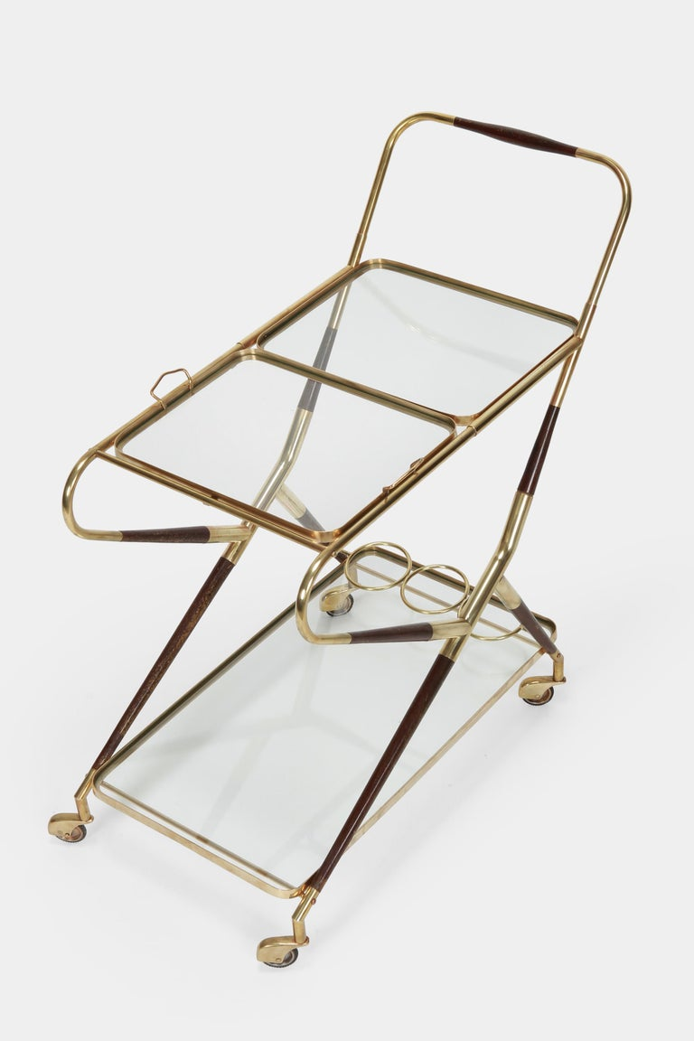 Mid-Century Modern Cesare Lacca Serving Trolley, 1950s