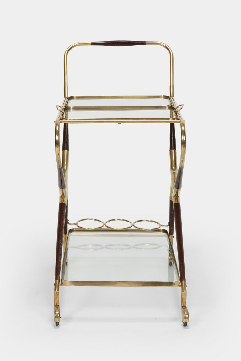 Brass Cesare Lacca Serving Trolley, 1950s