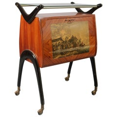 Cesare Lacca style Bar Cart, Italy, 1950