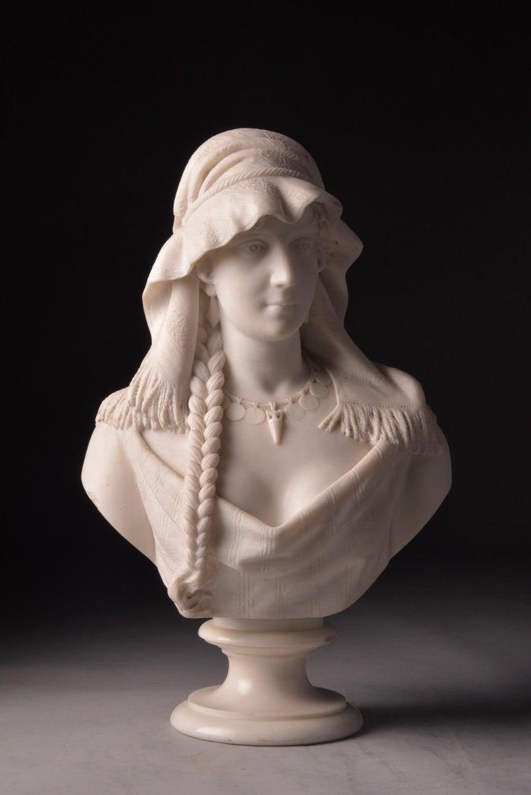Cesare Lapini, Marble Female Bust