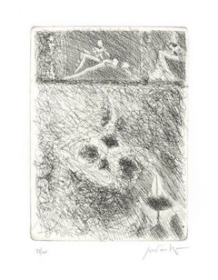 Untitled - Original Etching by Cesare Peverelli - 1973