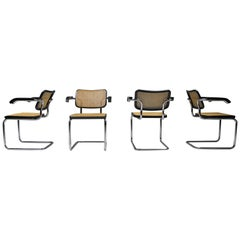 Cesca Dining Chairs 'B64' Marcel Breuer for Thonet, Set of Four