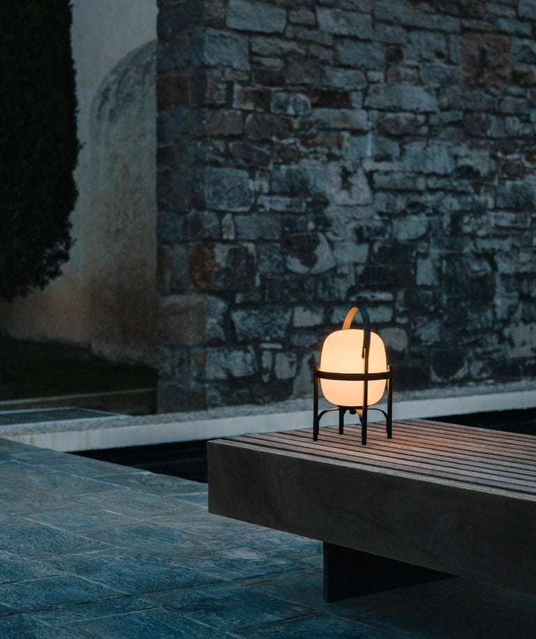 Spanish Cestita Alubut Table Lamp by Miguel Milá for Santa & Cole For Sale