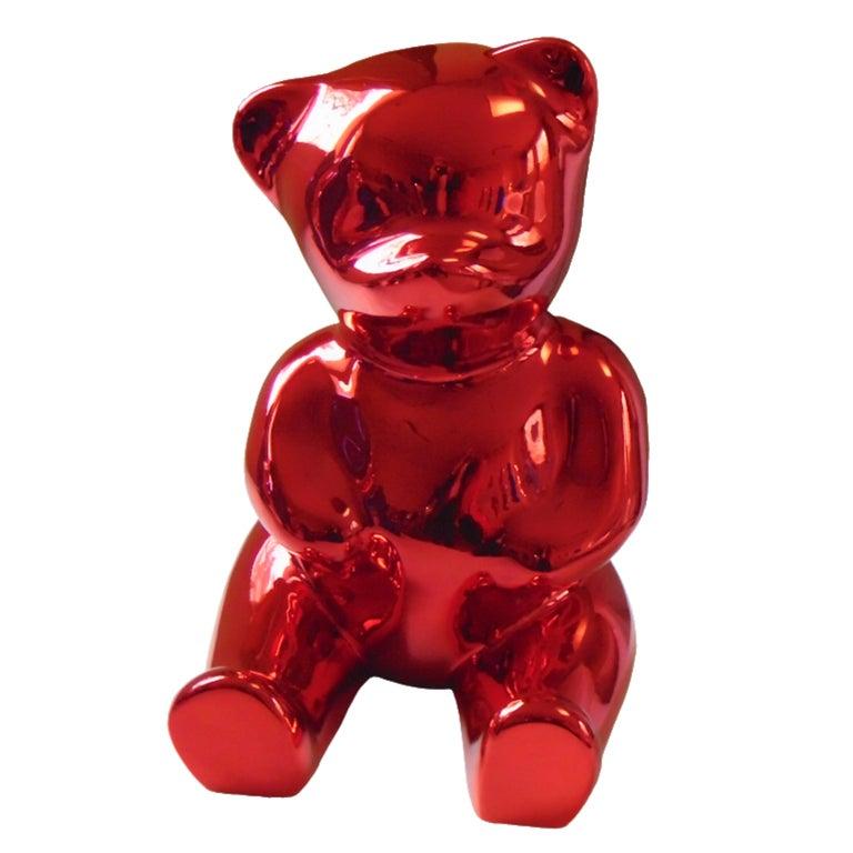 Cévé, Brainy Red - Sculpture by Cévé