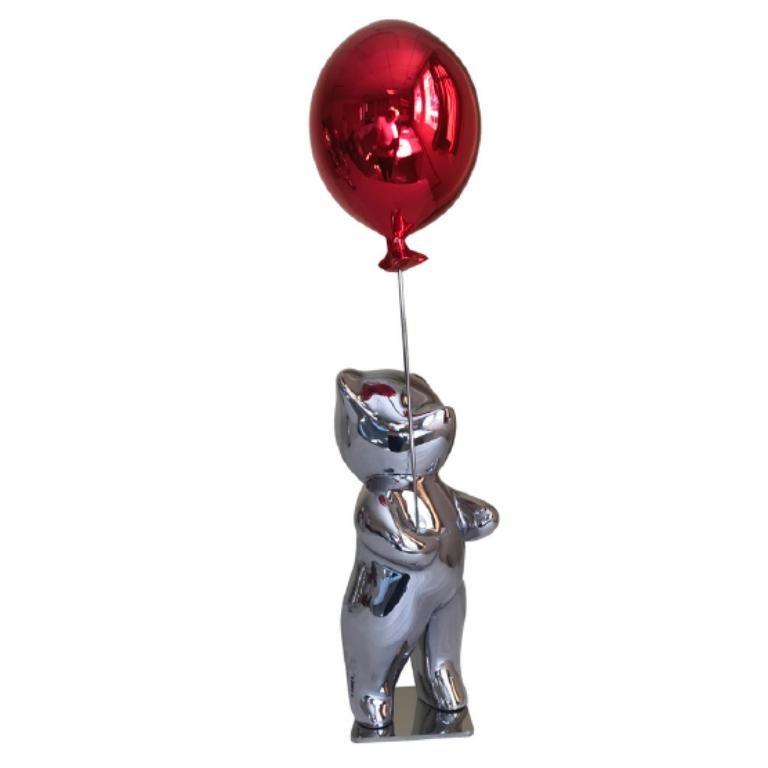Cévé, Bubbly Red - Sculpture by Cévé