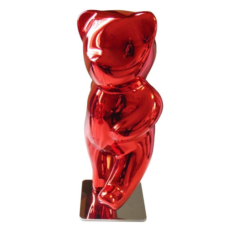 Cévé, Moony Red - Sculpture by Cévé