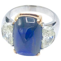 Ceylon No Heat Sapphire and Diamond Ring