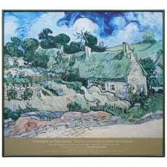 Cezanne to Van Gogh Thatched Cottages at Cordeville Poster Metropolitan Museum