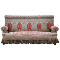 C.F.A. Voysey Arts & Crafts Upholstered Sofa, circa 1900