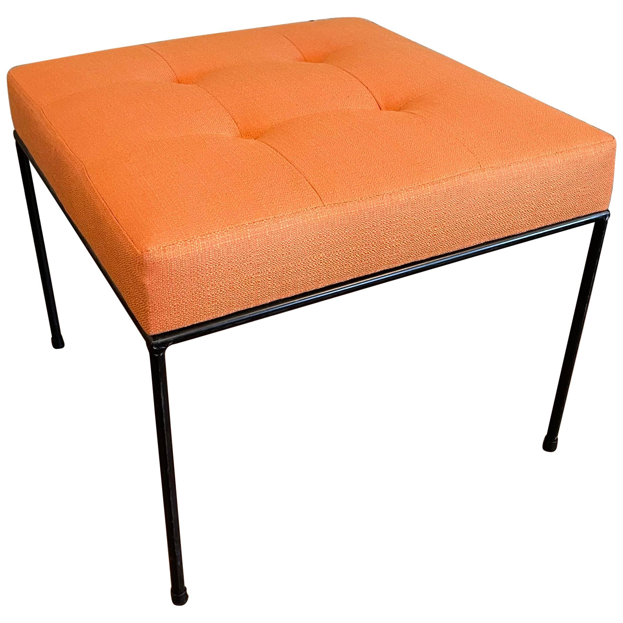 cFsignature Minimal Upholstered Wrought Iron Ottoman