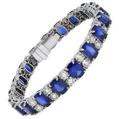 CGL Certified 108.06 Ct Sapphire 31.22 Ct Diamonds Set Necklace Bracelet Earring