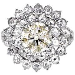 CGL Certified 2.05 Carat White Diamond Wedding Ring