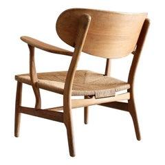 """""""CH-22"""" Easy Lounge Chair by Hans J. Wegner for Carl Hansen & Søn, Denmark"""