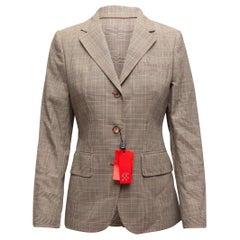 CH Carolina Herrera Grey & Multicolor Virgin Wool Blazer