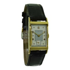 C.H. Meylan 18 Karat Yellow Gold Art Deco Watch Hand Constructed, circa 1940s