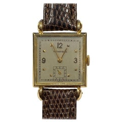 C.H. Meylan for Tiffany & Co. Antique Gents Yellow Gold Wrist Watch