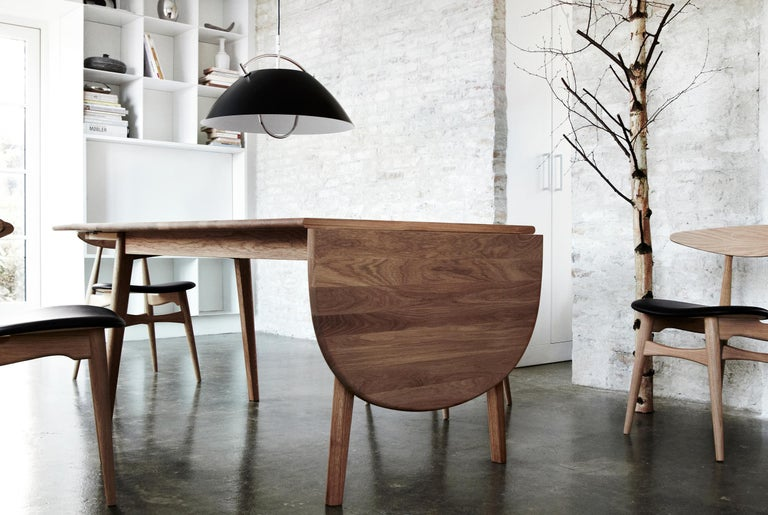Contemporary CH006 Large Dining Table in Wood Finish by Hans J. Wegner For Sale
