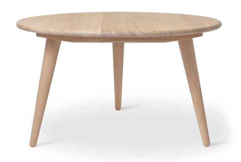 For Sale: Beige (Oak White Oil) CH008 Large Coffee Table in Wood by Hans J. Wegner 2