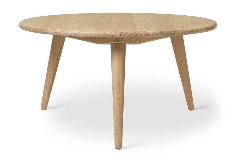 For Sale: Brown (Oak Soap) CH008 Large Coffee Table in Wood by Hans J. Wegner
