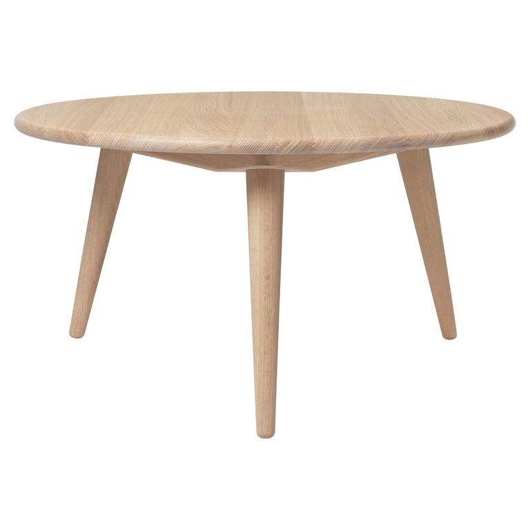 For Sale: Beige (Oak White Oil) CH008 Large Coffee Table in Wood by Hans J. Wegner