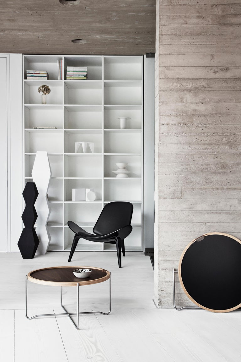 CH07 Shell Chair in Oak White Oil with Leather Seat by Hans J. Wegner For Sale 10