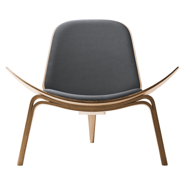 CH07 Shell Chair in Oak White Oil with Foam Seat by Hans J. Wegner